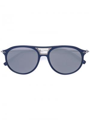 Солнцезащитные очки-авиаторы Matsuda. Цвет: синий