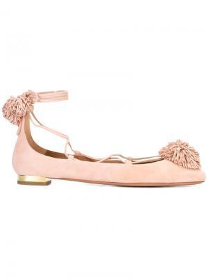 Балетки со шнуровкой Aquazzura. Цвет: розовый и фиолетовый