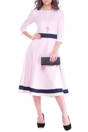 Платье Dioni. Цвет: бежевый, темно-синий