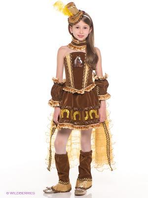 Карнавальный костюм Лошадка Мона Батик. Цвет: коричневый