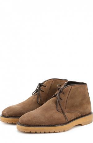 Замшевые ботинки на шнуровке Berluti. Цвет: темно-коричневый