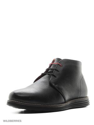 Ботинки Ascot. Цвет: черный, красный