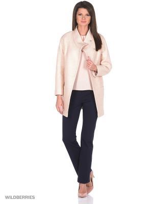 Пальто PF. Цвет: бежевый, розовый