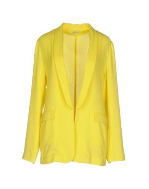 Пиджак BEAYUKMUI. Цвет: желтый