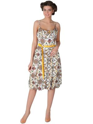Платье Ksenia Knyazeva. Цвет: белый, зеленый, красный, желтый