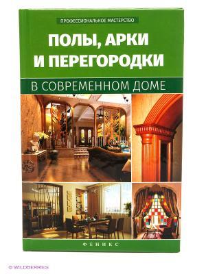 Полы, арки и перегородки в современном доме Феникс. Цвет: зеленый