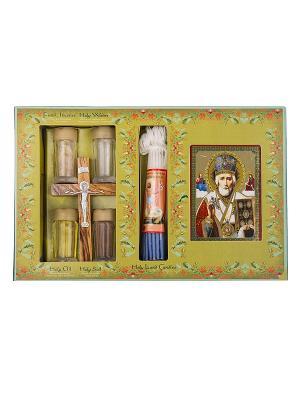 Набор паломника с ликом Николая Чудотворца Holy Land Collections. Цвет: бежевый