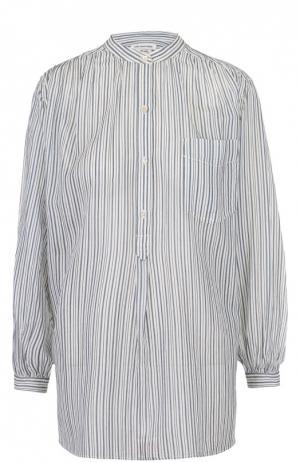 Блуза прямого кроя в полоску с воротником-стойкой Isabel Marant Etoile. Цвет: голубой