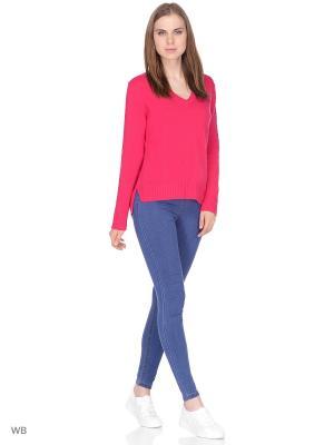 Пуловер United Colors of Benetton. Цвет: красный, белый