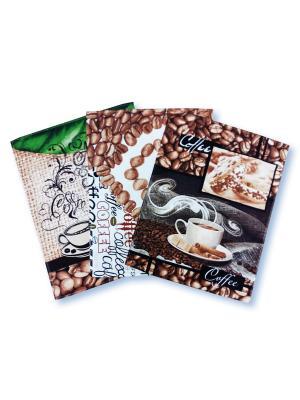 Комплект вафельных полотенец Кофе ZLATA KORUNKA. Цвет: коричневый