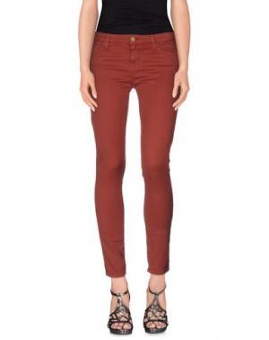 Джинсовые брюки ACQUAVERDE. Цвет: кирпично-красный