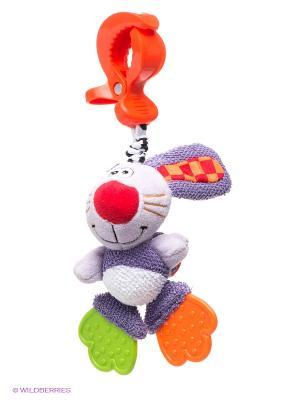 Мягкая игрушка-подвеска Кролик Playgro. Цвет: сиреневый