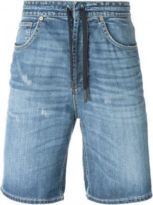 Джинсовые шорты Dondup. Цвет: синий