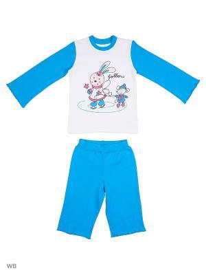 Пижама костюм ВАЛЕНТИНА СТИЛЬ. Цвет: голубой