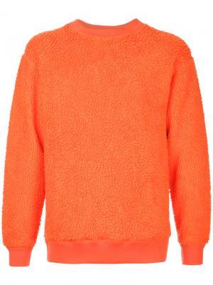 Фактурный свитер с круглым вырезом H Beauty&Youth. Цвет: жёлтый и оранжевый
