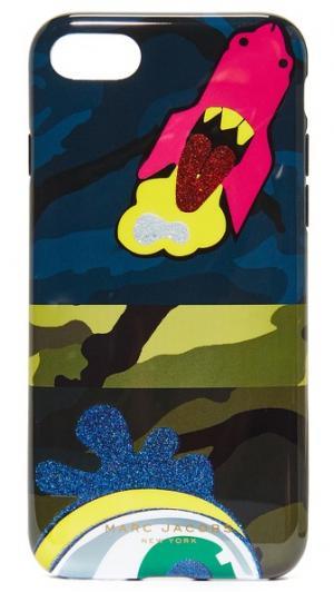 Чехол для iPhone 7 с камуфляжным принтом Marc Jacobs