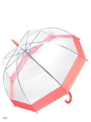 Зонт Modis. Цвет: прозрачный, красный