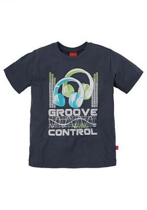 , футболка для мальчиков CFL. Цвет: синий морской