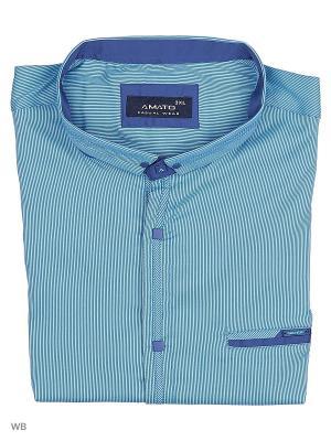 Рубашка AMATO. Цвет: голубой, синий