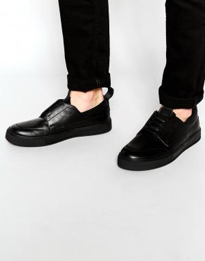 Dark Future Кроссовки на шнуровке с петелькой язычке и заднике. Цвет: черный