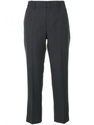 Укороченные брюки Prada. Цвет: серый