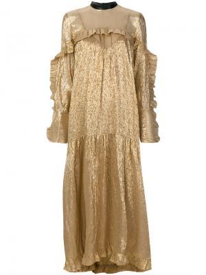 Платье Dolores Petar Petrov. Цвет: металлический