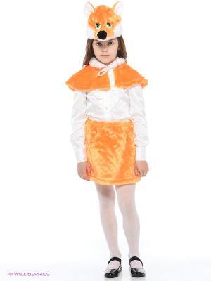 Карнавальный костюм Лиса Батик. Цвет: оранжевый