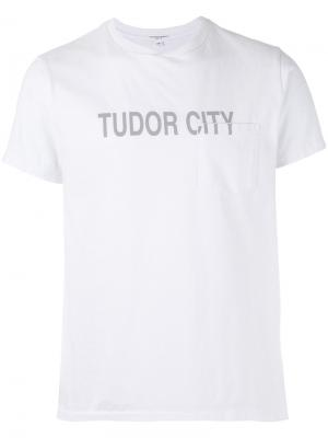Футболка Tudor City Engineered Garments. Цвет: белый