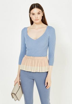 Пуловер Elisabetta Franchi. Цвет: голубой