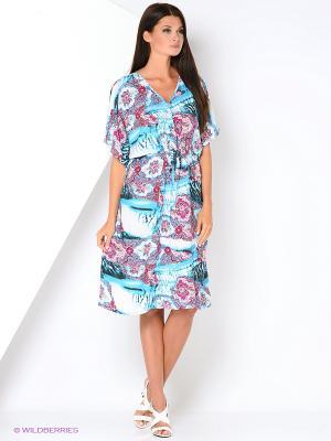 Туника текстильная Vittorio Richi. Цвет: голубой