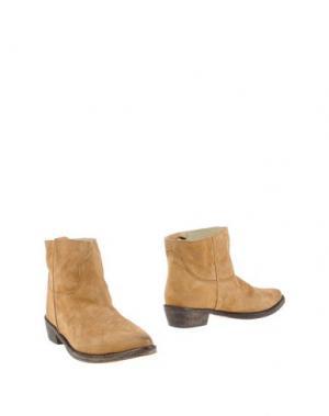 Полусапоги и высокие ботинки MR. WOLF. Цвет: верблюжий