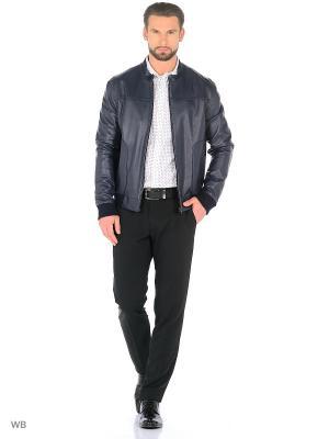 Кожаная куртка Lambskin. Цвет: синий