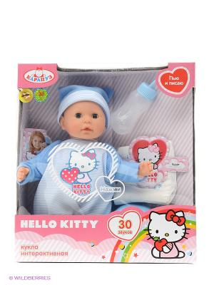 Пупс  hello kitty 35см Карапуз. Цвет: голубой