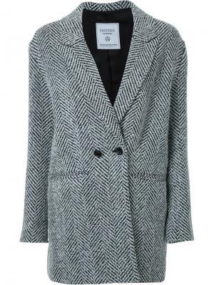 Блейзер с плетеным дизайном Fad Three. Цвет: чёрный