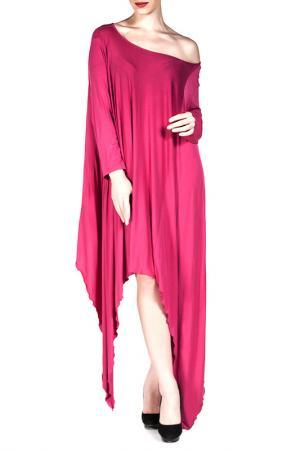 Платье Exline. Цвет: розовый