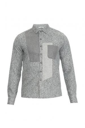 J2nd Рубашка из шерсти с хлопком 159311 J'2nd. Цвет: серый
