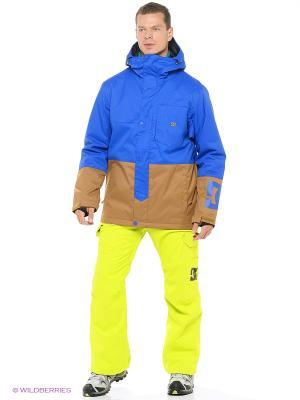 Куртка DC Shoes. Цвет: синий, бирюзовый