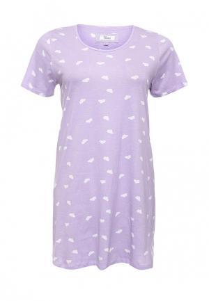 Платье домашнее Evans. Цвет: фиолетовый