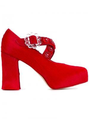 Декорированные туфли Simone Rocha. Цвет: красный