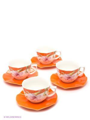 Чайный набор LORAINE. Цвет: оранжевый