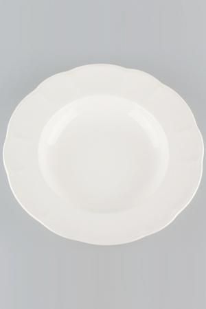 Тарелка десертная 21 см Quality Cermaic. Цвет: белый