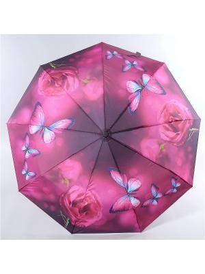 Зонт Magic Rain. Цвет: сливовый, голубой