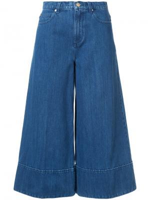 Укороченные широкие джинсы Co. Цвет: синий
