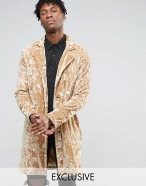 Reclaimed Vintage Бархатное пальто. Цвет: stone