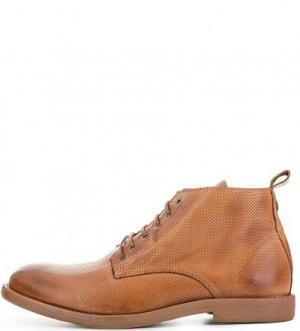 Кожаные ботинки с брелком NOBRAND. Цвет: коричневый