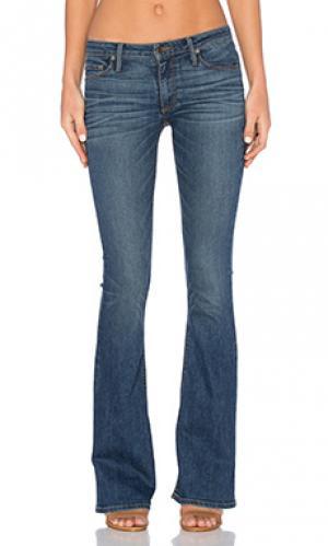 Узкие джинсы-клёш средней посадки mia Black Orchid. Цвет: none
