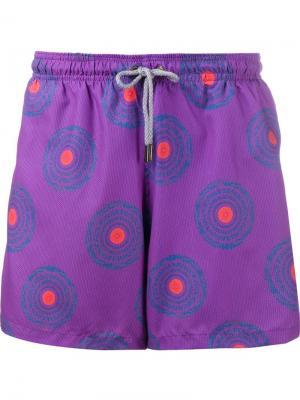 Circle print swim shorts Okun. Цвет: розовый и фиолетовый