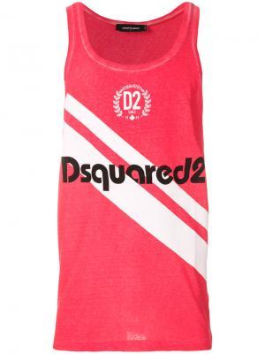 Топ с принтом логотипа Dsquared2. Цвет: розовый и фиолетовый