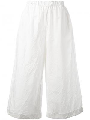 Flared trousers Daniela Gregis. Цвет: белый