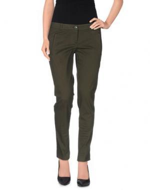 Повседневные брюки REBEL QUEEN. Цвет: зеленый-милитари
